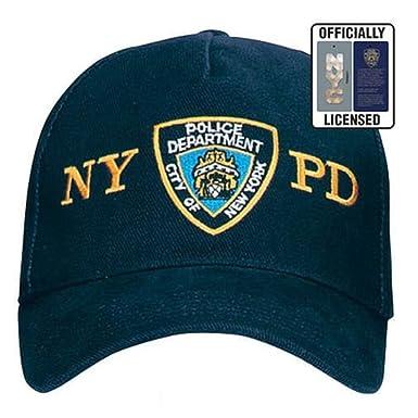 official hat baseball cap navy blue police department nypd uk caps hatzolah