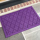 AquaShield Argyle Doormat, 18'' x 27'', Purple