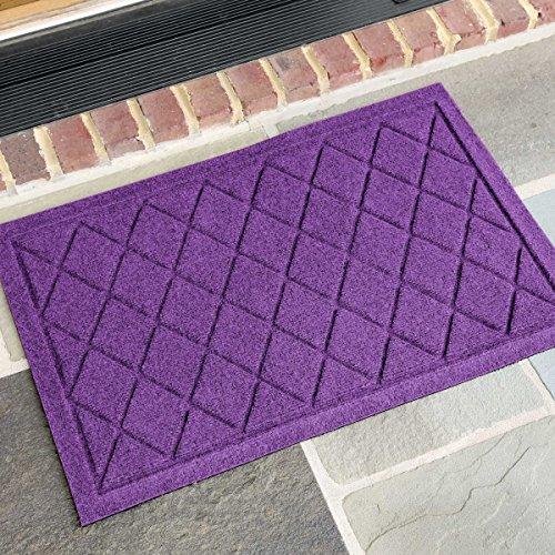 AquaShield Argyle Doormat, 18'' x 27'', Purple by AquaShield
