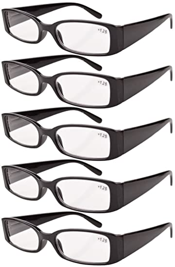 ef3cb14fa54 Image Unavailable. Image not available for. Color  Eyekepper Spring Hinge  Plastic Reading Glasses (5 Pack) Readers Women ...