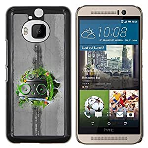 """Be-Star Único Patrón Plástico Duro Fundas Cover Cubre Hard Case Cover Para HTC One M9+ / M9 Plus (Not M9) ( Abstract Speakers Grass"""" )"""