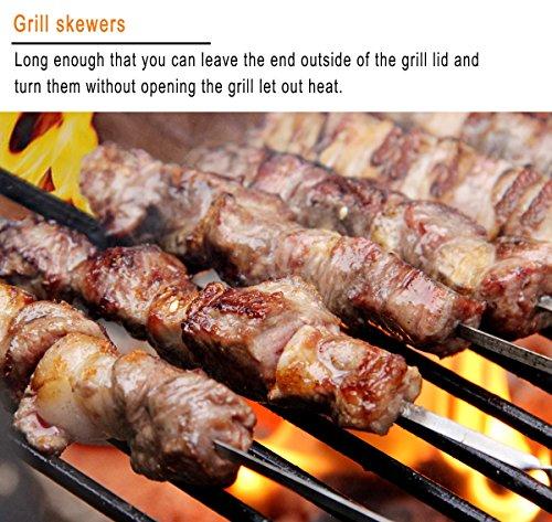 grilljoy 18pcs Accesorios para Barbacoa - Kit de Acero Inoxidable para Trabajo Pesado Barbacoa con Mango Antideslizante en Estuche de Aluminio - Prefect ...