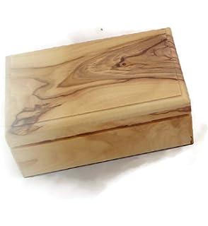 Amazon.com: Caja de recuerdo de joyas madera de olivo ...