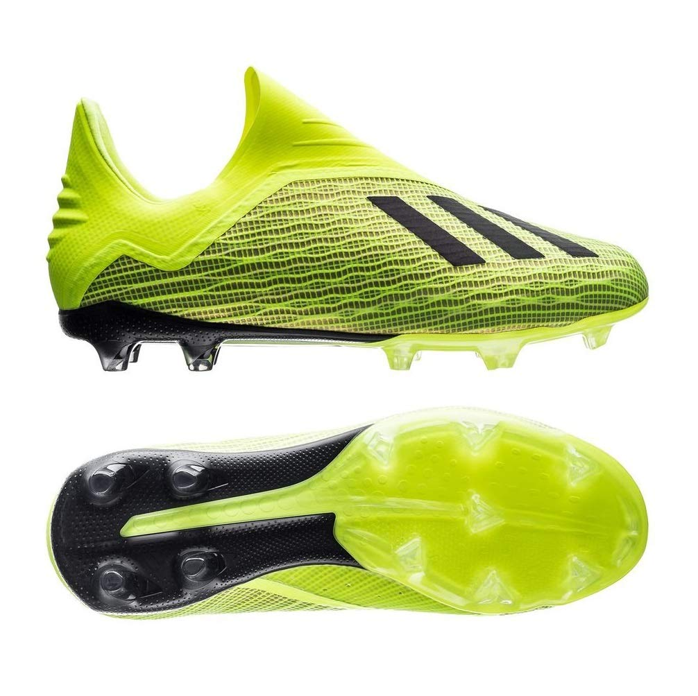 adidas X 18+ Kid's Firm Ground Soccer Cleats (4 M US) Yellow