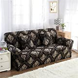 RUGAI-UE Sofa Slipcover sofa cover tight fitted elastic gasket cover three upholstered sofa full four living room,A single seater 90-140cm,Baroque