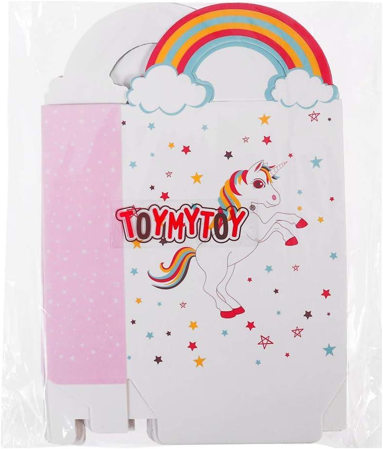 Toyvian 24pcs Sacs de Papier Licorne avec poign/ée Arc-en-Ciel Cadeau Sacs Sacs de Bonbons Shopping Bags pour Enfants Anniversaire Licorne pour f/ête de Fournitures d/écorations de faveur