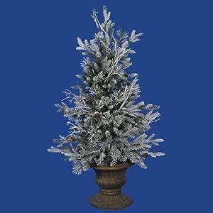 Amazon.com: 3 ft. PE/PVC Christmas Tree - Frosted ...