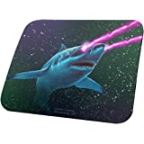 Galaxy Laser Shark All Over Mouse Pad Multi Standard One Size