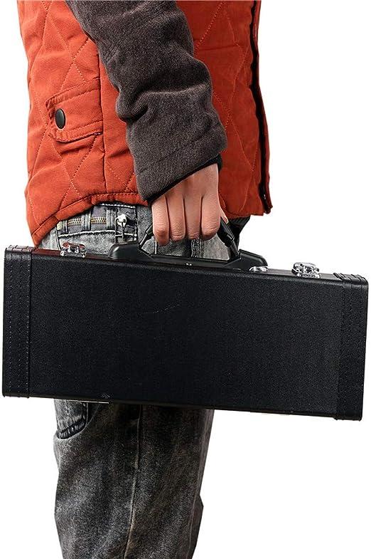 Morza 16 Trou Fl/ûte traversi/ère Noir Durable int/érieur Lint bo/îte en Cuir Poratble Instruments de Stockage Paquet de Cas