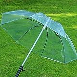 ESHOO LED Umbrella, Light Up Umbrellas Flash Night Protection Transparent Umbrella with 7 Color