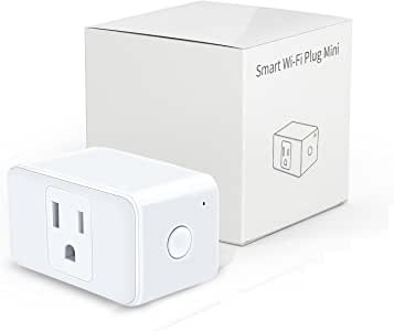 Refoss Wireless WIFI Smart Plug Compatible with Alexa, Mini Time Switch, Voice Control or App Remote Control Devices from Anywhere, Occupies Only One Socket, No Hub Needed