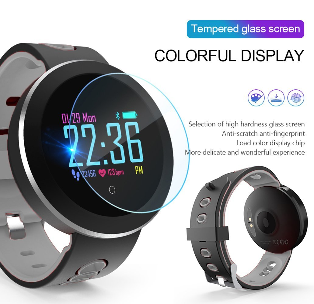 IP68 Waterproof Fitness Tracker Smartwatch for kids Men Women Swimming Heart Rate Blood Pressure Oxygen Sleep Monitor GPS Activity Tracker Pedometer Color Screen Outdoor Sport Bracelet for Android iOS by JingStyle (Image #3)