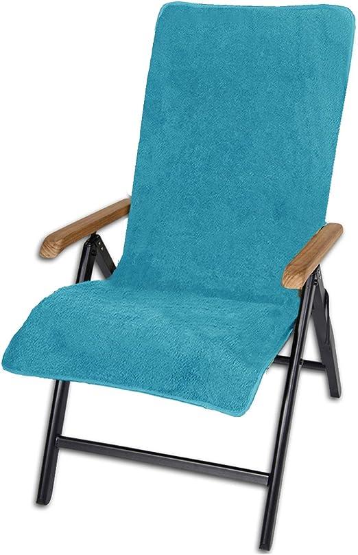 JEMIDI Cubierta para tumbonas de jardín para sillas silla de jardín frottee ya – Fregadero, funda para funda de rizo, turquesa: Amazon.es: Jardín