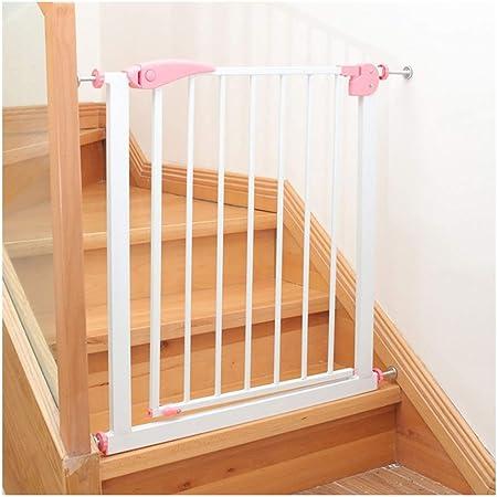LSRRYD Barrera Extensible Perros Hierro Valla Seguridad Infantil Rejilla para Escaleras Doble Bloqueado Fácil De Instalar para Puertas Pasillos Y Escaleras (Color : Pink, Size : 57-64x76cm): Amazon.es: Hogar