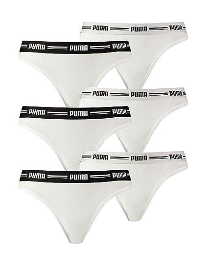 Puma Femmes Emblématique String, 6er Pack Coton Modal