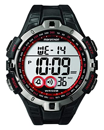 ebe5c0c42 Timex Men's T5K423 Quartz Watch with LCD Dial Digital Display and Black  Resin Strap: Timex: Amazon.co.uk: Watches