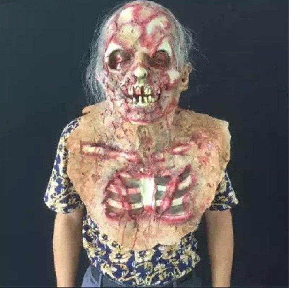 WSJDJ Halloween Adulto Látex Máscara Terror Peluca Accesorios