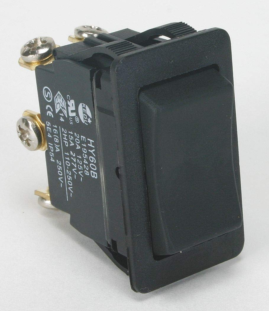 Power First Rocker Switch, Contact Form: DPDT, Number of Connections: 6, Terminals: Screw - 2LNH3 ( Pack of 2 ) by Power First