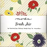 Moda Fresh Air Charm Pack, 42 5-inch Cotton Fabric Squares