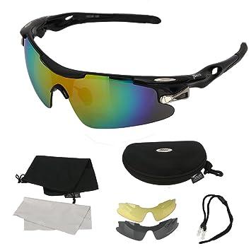 Gafas Polarizadas de Ciclismo Para Hombre UV 400 Irrompible Para Mujer 3 Par de Gafas Gafas