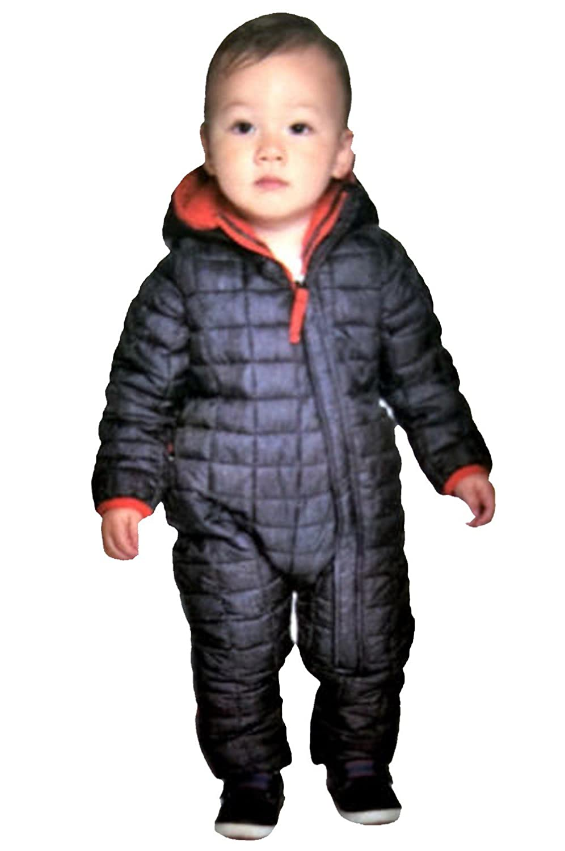 c253af9bb592 Amazon.com  Snozu Infant Toddler Baby Child s Hooded Snowsuit  Clothing