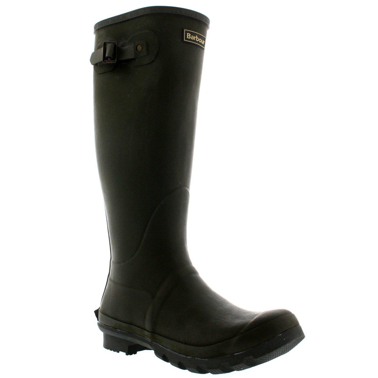Barbour Mens Bede Winter Mid Calf Snow Waterproof Rain Wellington Boots - Olive - 10-43