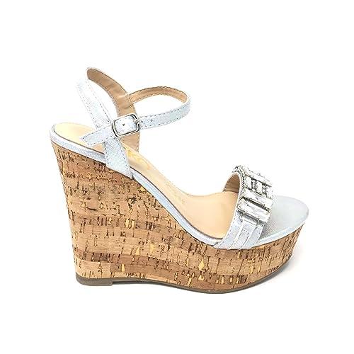 Alto Sandalias Wonx80pk Mujer Verano Zapatos Tacon Casuales Cuña Corcho D29IeYEWH