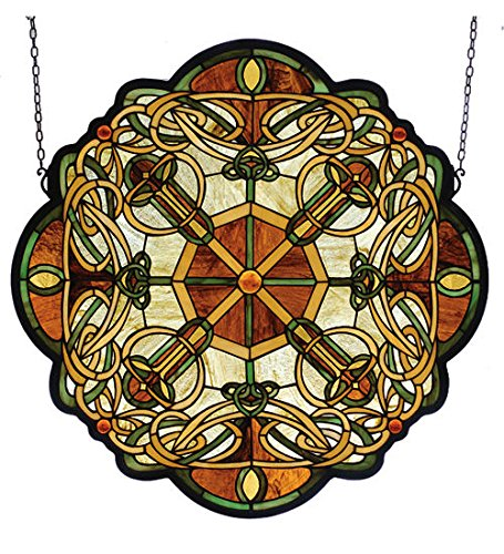 Tiffany Style Galway Medallion Stained Glass Window