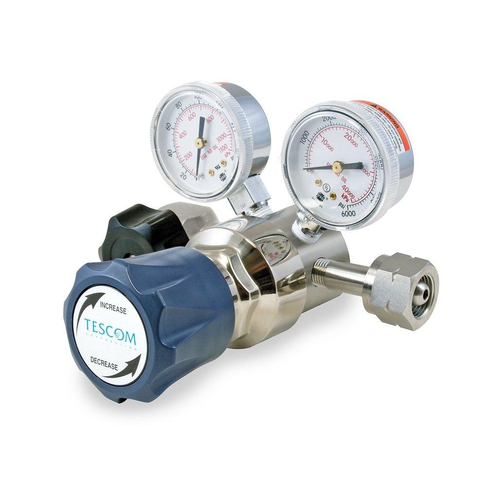 4 port 0-250 PSIG Out TESCOM SG165142-00BP0 SG1 Single-Stage Pressure Regulator Gauges 1//4 NPTF 0.2 CV Teflon Seals SST Body//Diaphragm 1//4 NPTF