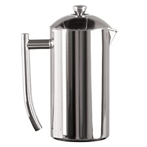 Frieling USA Double Wall Stainless Steel French Press Coffee Maker with Patented Dual Screen, Polished, 23-Ounce