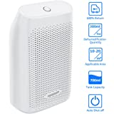 Auto Small Dehumidifier for 200 Sq Ft 700ML Tank Portable Large Capacity Ultra Quiet Thermo-Electric Mini Dehumidifiers for Home Basements Bathroom Bedroom Garage Closet Wardrobe, White by HODGSON