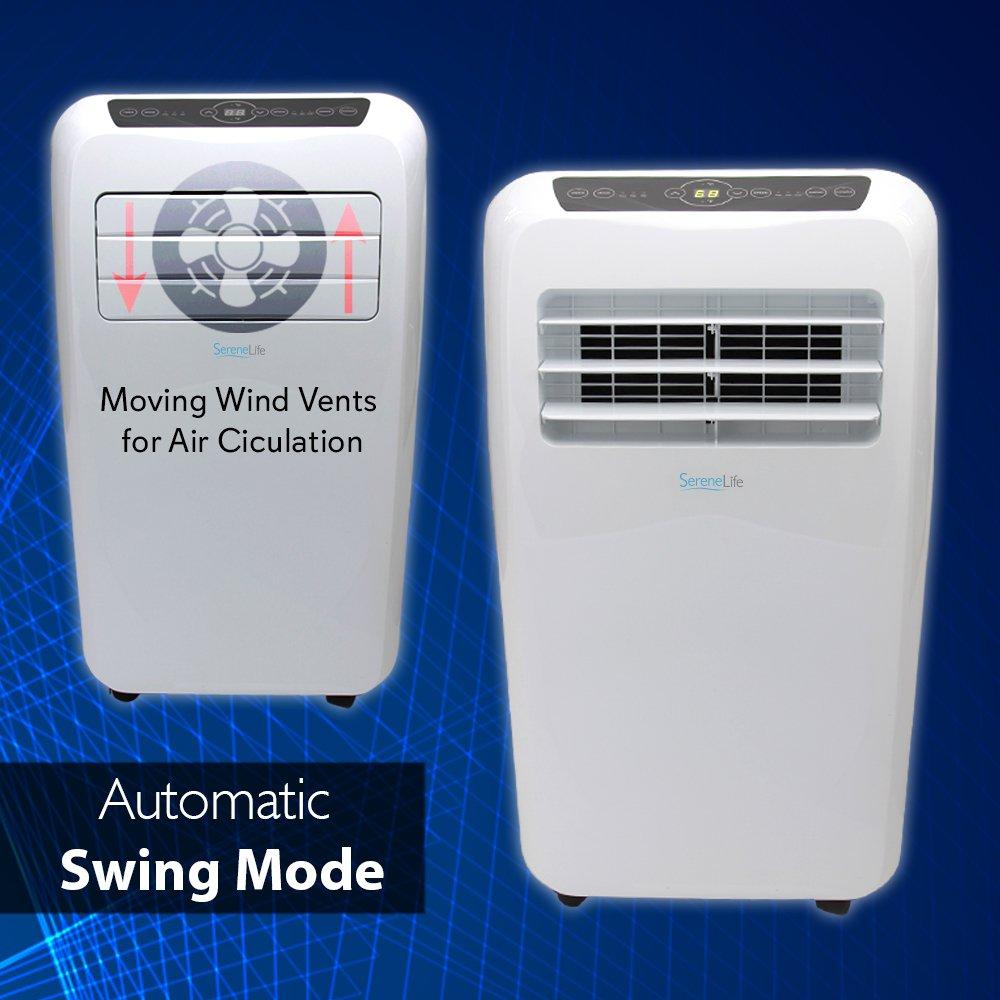 SereneLife 12,000 BTU Portable Air Conditioner, 3in1 Floor ...