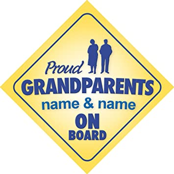 Non Personalised Child//Baby On Board Car Sign ~ Grandmas Prince On Board ~ Blue