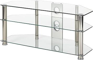 Soporte de televisión de Cristal Transparente, 105 cm de Ancho ...
