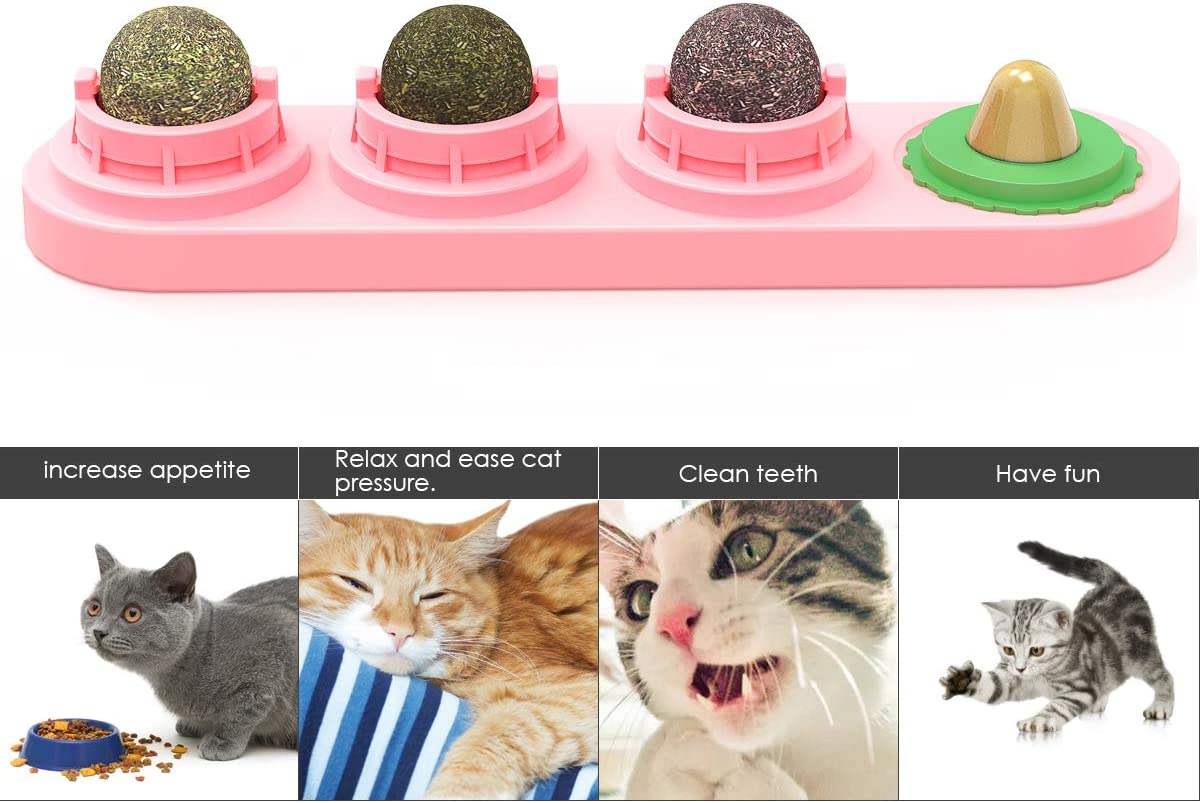 Cats Lick Toy Natural Catnip Edible Balls Licking Treats Toy for Cats Kitten iFCOW Cat Catnip Toys