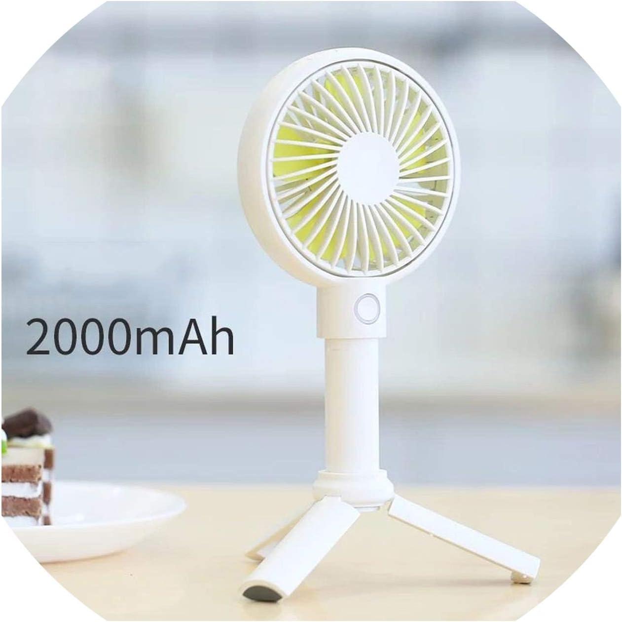Handheld USB Fan Cooler Portable 3 Speed Adjustable Mini Fan 3350Mah Rechargeable Handy Small Desk Desktop USB Cooling Fan,Pink 3350Mah