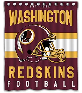 Amazon Com Washington Redskins Set 12 Bathroom Shower Curtain