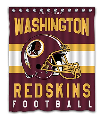 Sonaby Custom Washington Redskins Waterproof Fabric Shower Curtain For Bathroom Decoration 60x72 Inches