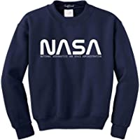 NuffSaid NASA Font Logo Crewneck Sweatshirt Sweater Pullover - Unisex Crew