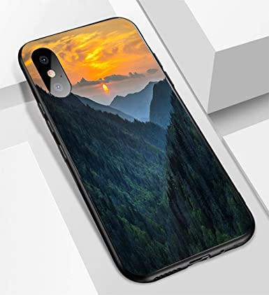 Amazon.com: Carcasa para iPhone X/XS, ultra fina, de cristal ...
