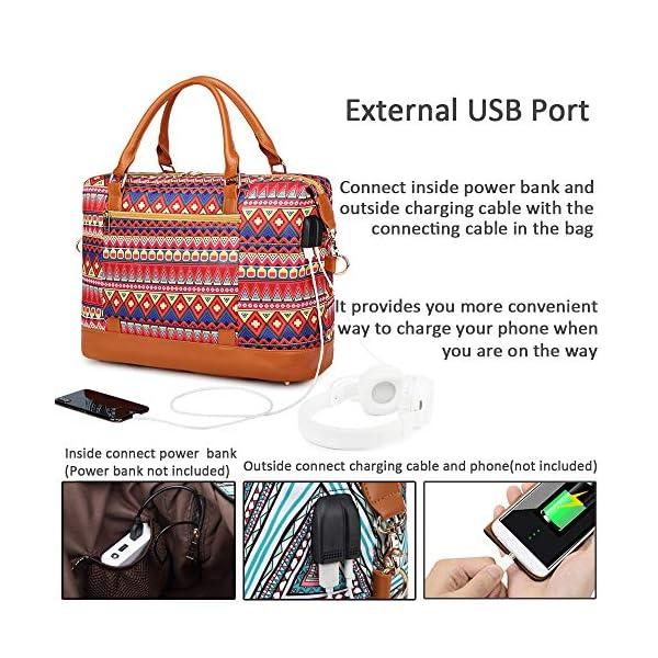 Borsone da viaggio weekend Borsa da palestra handbag Tote da borsa sportiva con porta USB Borsa tote per laptop comoda… 2 spesavip
