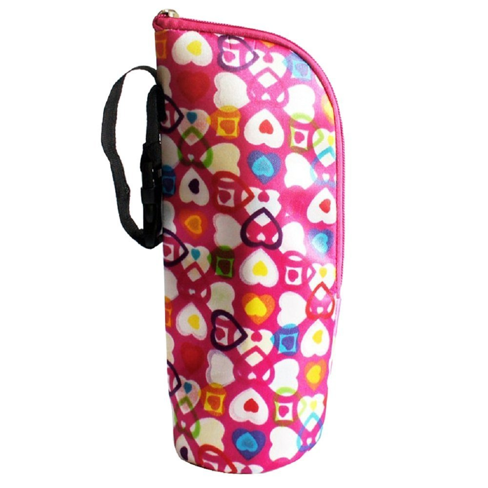 TOOGOO(R)Thermos Bottle Warmer Baby Bags Insulators Totalizzatoredella Mummy Bag Baby Bottle Heart-shaped New