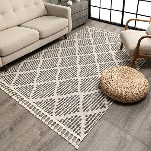 Well Woven Cenadora Grey Moroccan Trellis Area Rug 8×10 7'10″ x 10'6″