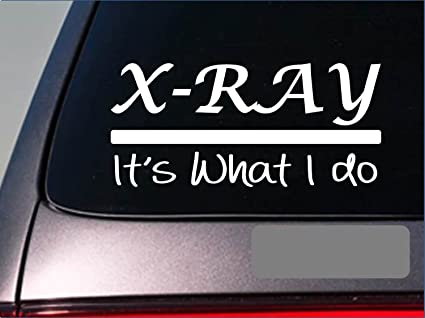 X ray sticker decal e288 x ray tech radiology radiologist er hospital