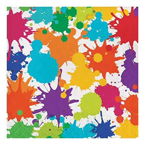 Creative Converting 317267 48 Count Paper Lunch Napkins, Art Party -