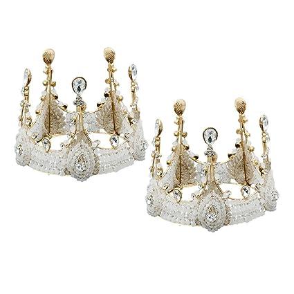 UPKOCH 2 Piezas Coronas Reina Princesa Vintage Retro Tiaras ...