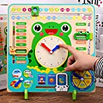 shengyuze Learning Toys, Wooden Clock Calendar Weather Season Month Cognitive Board Kids Educational Toy for Baby Kids