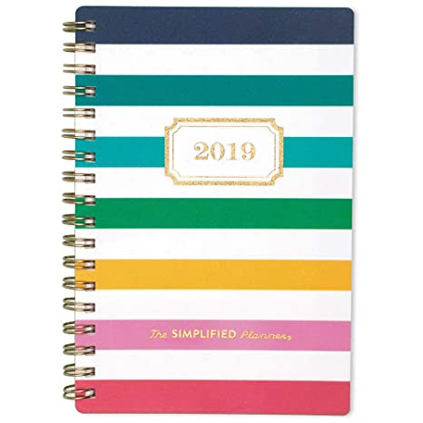photo relating to Emily Ley Planner identify Emily Ley 2019 Every month Planner, The Simplified Planner, 3-1/2\