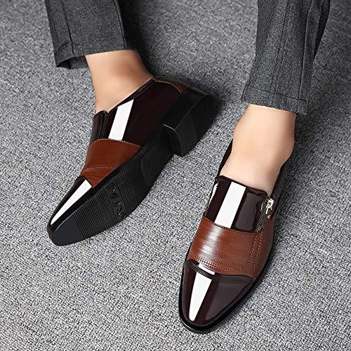 Negocios De Vestir Hombres Lazy Cremallera Un Puntiaguda Casual Marrón Zapato Los Pedal Alikeeyzapatos Zapatos Cabeza xdAX4nA5