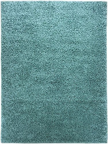 """Shaggy Collection Solid Color Shag Rug Area Rugs Different Color Options Available (Light Teal Blue, 3'3"""" x 4')"""